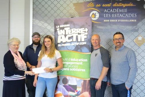 Félicitations à Amy Gérin-Lajoie de l'Académie des Estacades qui remporte le 3e prix